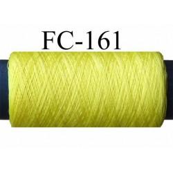 bobine de fil polyester solide  couleur jaune  longueur 200 mètres largeur de la bobine 5.5 cm diamètre 2.5 cm made in france