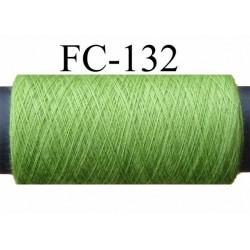 bobine de fil n° 120 polyester couleur vert  longueur 200 mètres largeur de la bobine 5.5 cm diamètre 2.5 cm