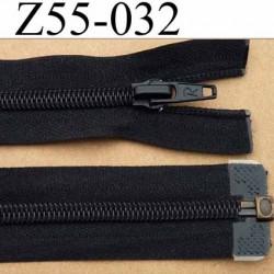 fermeture éclair longueur 55 cm couleur noir séparable largeur 3.2 cm zip glissière nylon largeur 6,5 mm curseur en métal