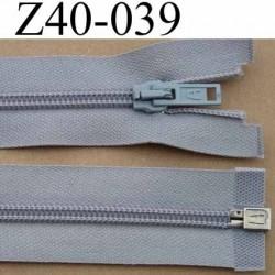 fermeture éclair longueur 40 cm couleur gris séparable largeur 3.2 cm zip glissière nylon largeur 6 mm curseur en métal