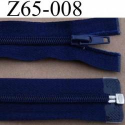 fermeture éclair longueur 65 cm couleur bleu séparable largeur 3 cm zip glissière nylon largeur 6 mm curseur en métal