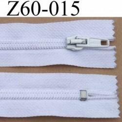 fermeture éclair blanche largeur 3 cm longueur 60 cm couleur blanc non séparable largeur de la glissière nylon 6.5 mm