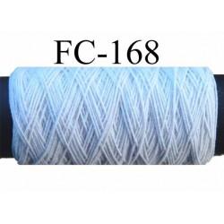 bobine de fil élastique  polyamide couleur blanc longueur 20 mètres diamètre 0.07 mm largeur de la bobine 5.5 cm diamètre 2.5 cm