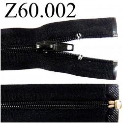 fermeture 60 cm noir séparable zip nylon