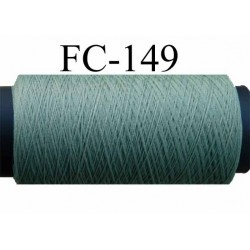 bobine de fil mousse texturé polyester couleur vert kaki clair longueur 200 mètres largeur de la bobine 5.5 cm diamètre 2.5 cm