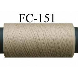 bobine de fil mousse polyamide couleur chair longueur 200 mètres largeur de la bobine 5.5 cm diamètre 2.5 cm