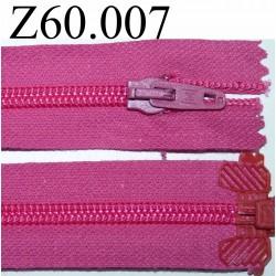 fermeture 60 cm rose séparable zip nylon