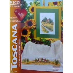 un été en Toscane n°40 le point de croix rico design