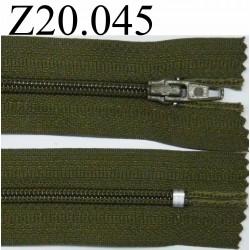 fermeture 20 cm vert non séparable zip nylon