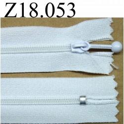 fermeture 18 cm blanc non séparable zip nylon