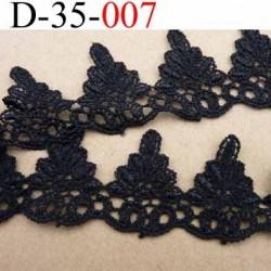 dentelle galon crochet coton noir largeur 35 mm vendu au mètre