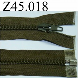 fermeture 45 cm vert séparable zip nylon