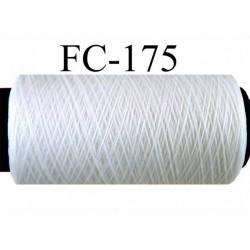 bobine de fil mousse nylon n° 120 couleur blanc longueur 200 mètres largeur de la bobine 5.5 cm diamètre 2.5 cm