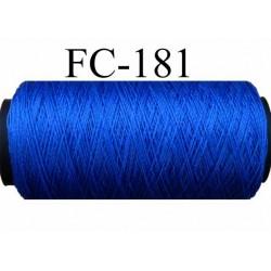 bobine de fil polyamide n° 60 couleur bleu lumineux très solide longueur 200 mètres largeur de bobine 5.5 cm diamètre 2.5 cm