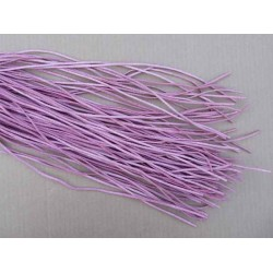 lien cordon tour de cou cuir peau rose longueur 56 cm