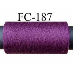 bobine de fil polyester n° 120 couleur prune impatiens longueur 200 ou 500 mètres largeur de la bobine 5.5 cm fabriqué en France