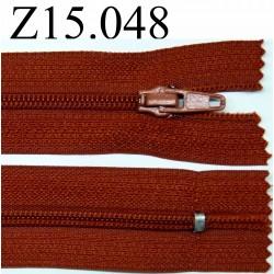 fermeture 15 cm rouille non séparable zip nylon
