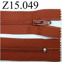 fermeture 15 cm rouille claire non séparable zip nylon