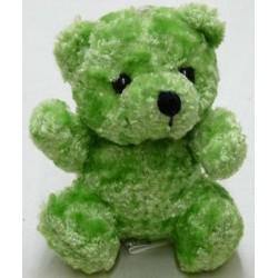 peluche ourson vert hauteur 11 cm
