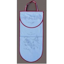 sac à pain à broder toile coton blanc motif meunier biais rouge