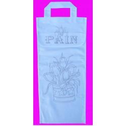 sac à pain à broder toile coton blanc motif tulipe