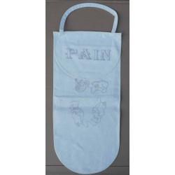 sac à pain à broder lin écru motif châtons