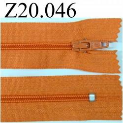 fermeture 20 cm orange non séparable zip nylon