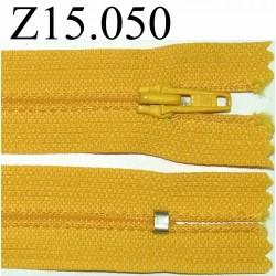 fermeture 15 cm jaune non séparable zip nylon