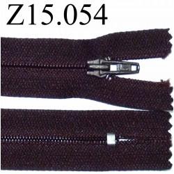 fermeture 15 cm prune foncé non séparable zip nylon