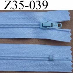 fermeture éclair longueur 35 cm couleur bleu clair séparable largeur 2.5 cm glissière en nylon largeur 4 mm curseur métal