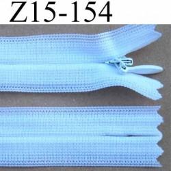 fermeture éclair invisible blanche longueur 15 cm couleur blanc non séparable zip nylon largeur 2.2 cm