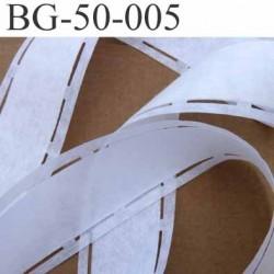 bande thermocollant ceinture jupe pantalon couleur blanc largeur 50 mm