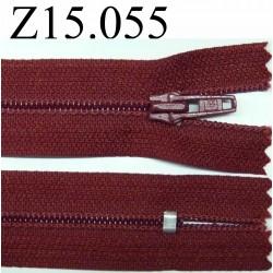 fermeture 15 cm bordeaux non séparable zip nylon