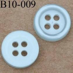 bouton diamètre 10 mm couleur gris bleu 4 trous