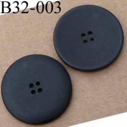 bouton diamètre 32 mm couleur noir mat 4 trous