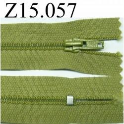 fermeture 15 cm vert non séparable zip nylon