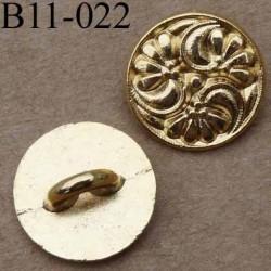 bouton 11 mm doré accroche un anneau 11 millimètres