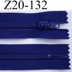 fermeture éclair longueur 20 cm couleur bleu tirant le violet non séparable zip nylon largeur 2.5 cm largeur de glissière 4 mm