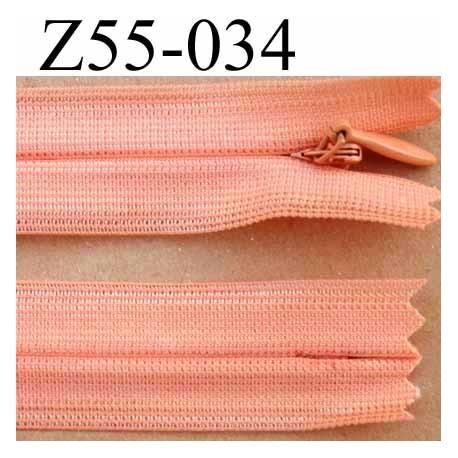 fermeture zip invisible longueur 55 cm couleur rose orang saumon non s parable largeur 2 2 cm. Black Bedroom Furniture Sets. Home Design Ideas