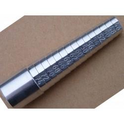 triboulet du 46 au 74 mesure bague neuf en aluminium hauteur 10cm diamètre 2.5 cm