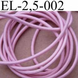 élastique cordon très belle qualité et très résistant couleur rose lumineux largeur 2,5 mm le mètre