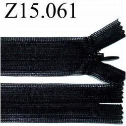fermeture 15 cm noir invisible non séparable zip nylon