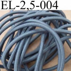 élastique cordon très belle qualité et très résistant couleur gris clair largeur 2,5 mm au mètre