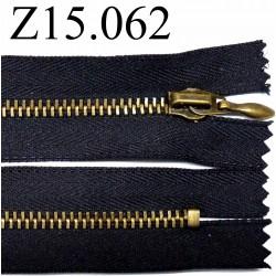 fermeture 15 cm noir non séparable zip métal