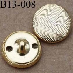 bouton 13 mm métal doré accroche 1 anneau diamètre 13 millimètres