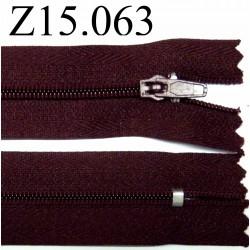 fermeture 15 cm prune non séparable zip nylon