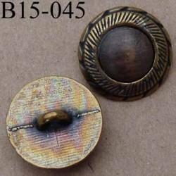 bouton 15 mm en métal style ancien accroche avec un anneau diamètre 15 millimètres