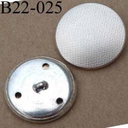 bouton 22 mm métal couleur chromé patiné accroche un anneau diamètre 22 mm