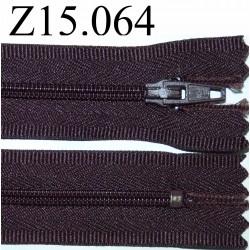 fermeture 15 cm marron non séparable zip métal