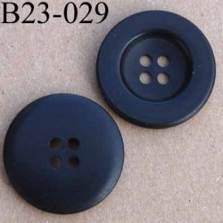 bouton 23 mm noir mat 4 trous diamètre 23 millimètres